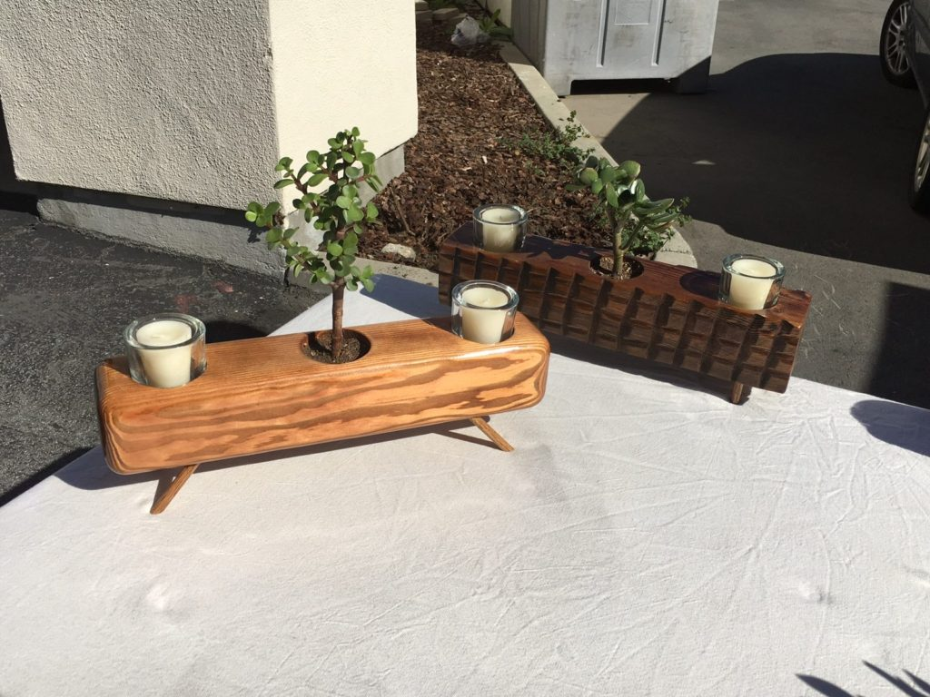 Rustic Candle & Tree Holder