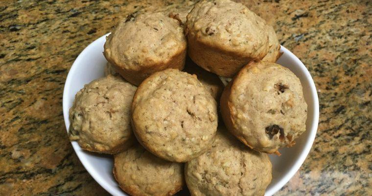 Banana & Date Muffins with Cream Cheese, Oats & Hemp Hearts