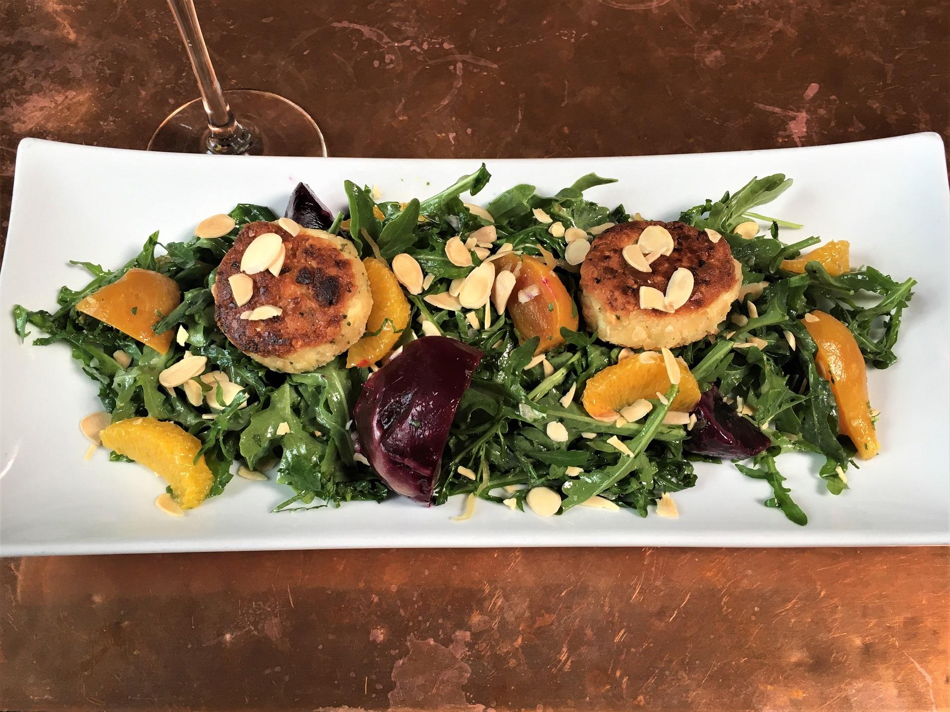 Roasted Beets & Wild Arugula Salad
