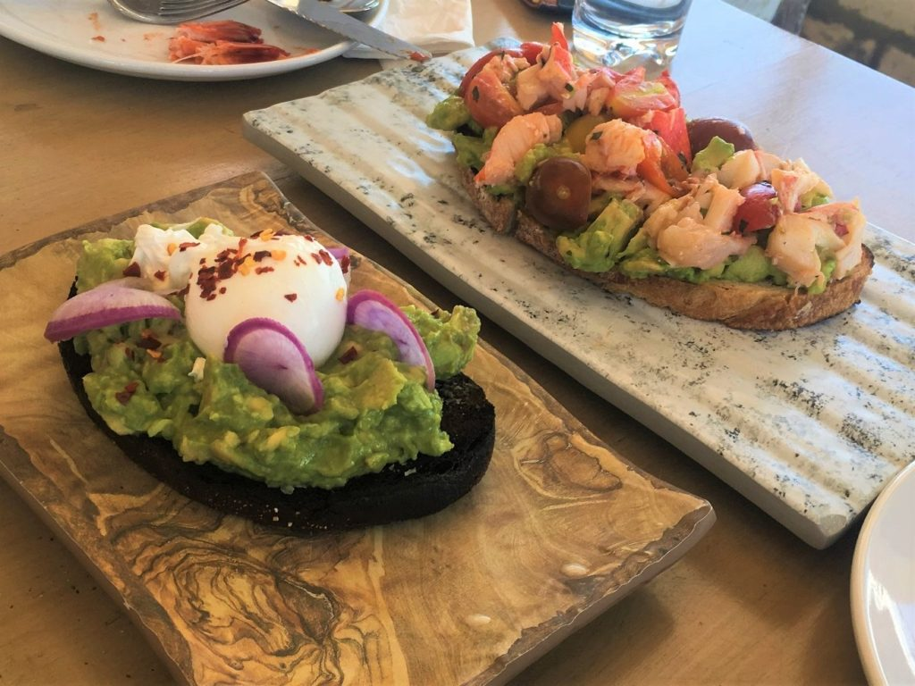 Avocado Toast & Lobster Toast