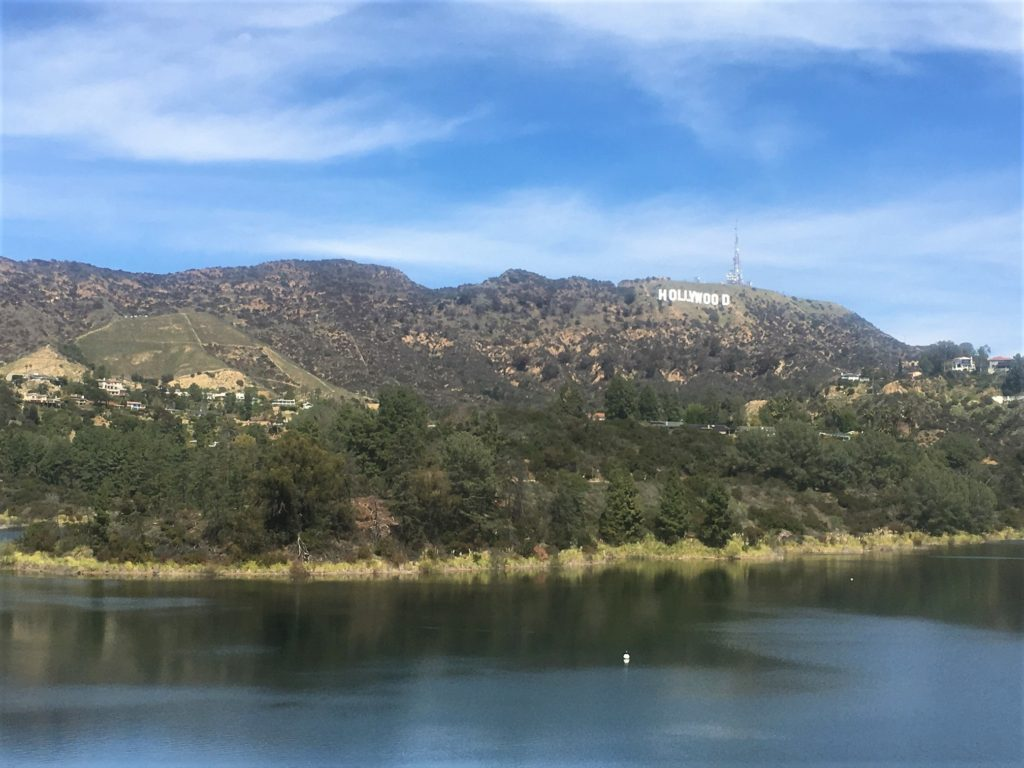 View of the Hollywood Sign from the Dam