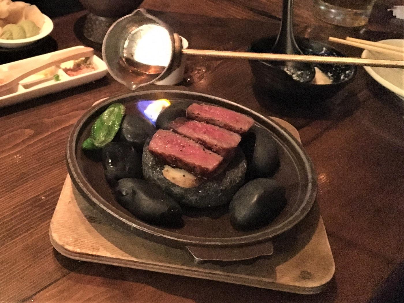 Robata Jinya - Wagyu Beef Lava Stone Grill - Step 2